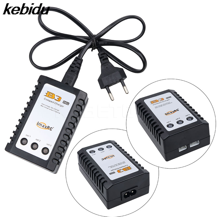 Kebidu B3 RC Pro IMAX компактный Быстрый Зарядное устройство AC 2 S 3 S 7.4 В/11.1 В литий <font><b>LiPo</b></font> RC Батарея баланс Каррегадор для <font><b>Zippy</b></font> TURNIGY pack
