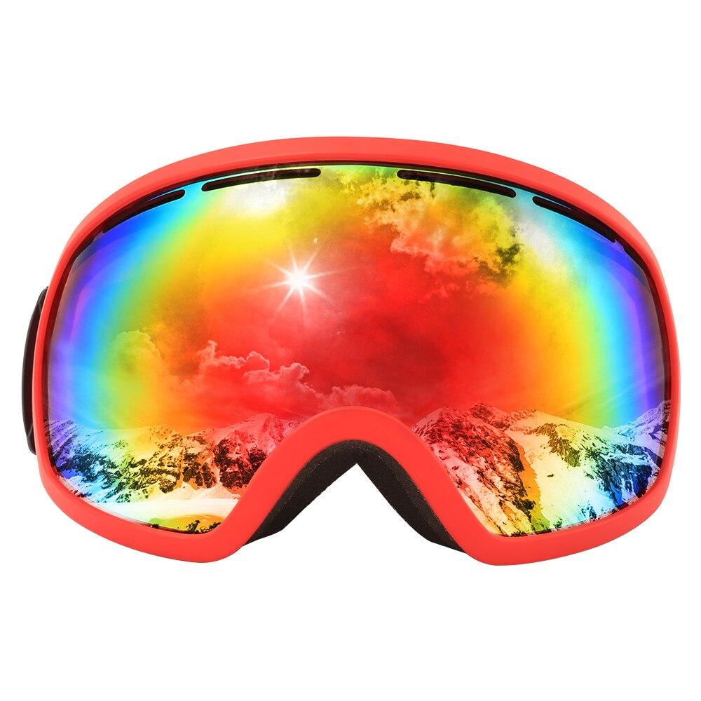 Multicolore revêtement PC lentille personnalisé ski snowboard lunettes