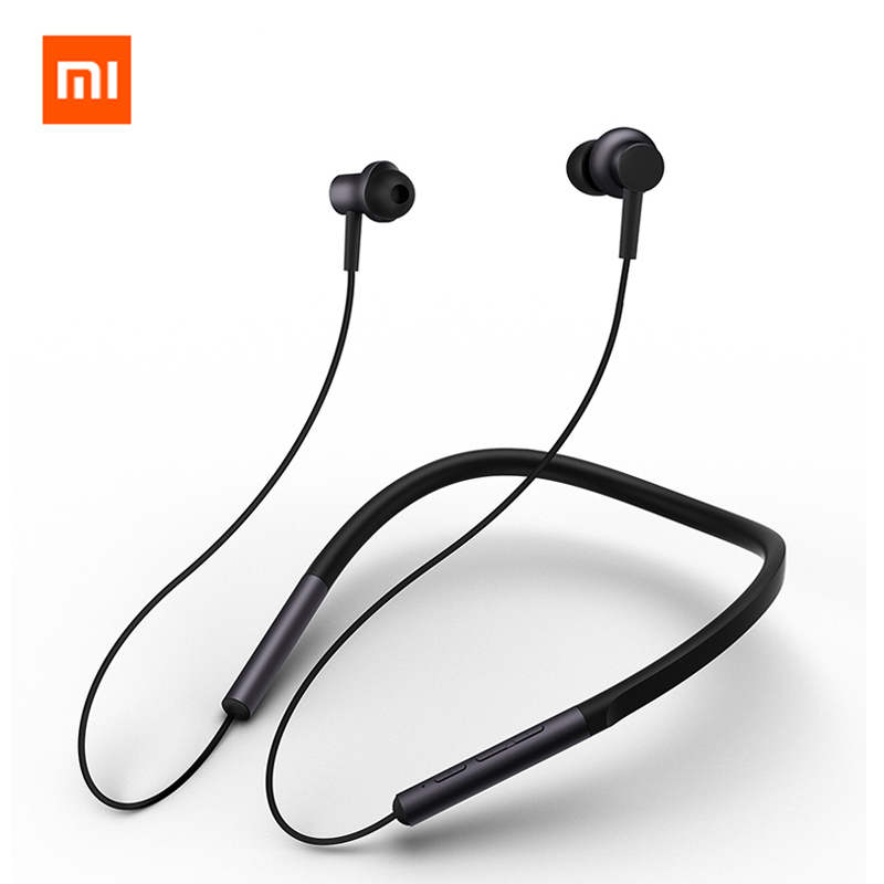 Original Xiaomi Bluetooth Collar Earphone Sport Wireless Bluetooth Headset with Mic Play Dual Dynamic Earbuds Headset