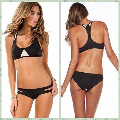 nuovo arrivo nero perizoma bikini spiaggia imbottito a vita bassa costumi da bagno sexy brasiliano costume