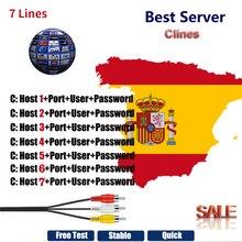 Vmade HD кабель 1 год CCCam для спутникового ТВ ресивера 7 Clines wifi FULL HD DVB-S2 поддержка Испании cline ccam сервер
