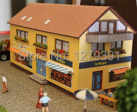 US $9 99 |Free shipping 1:87(HO) Small store paper model kit , Scale can be  altered to 1:72 , suitable for model train or war game-in Model Building