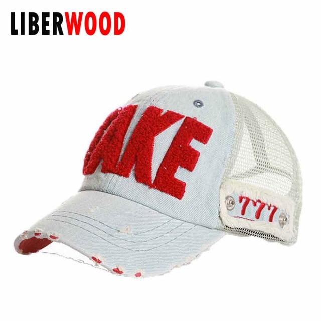 Wonans Mens Take 777 Vintage Best Design Club Street Distressed Hat Ball Cap  Denim Curved Bill Mesh Cap Baseball Hat Truckers 9f9d62ec800