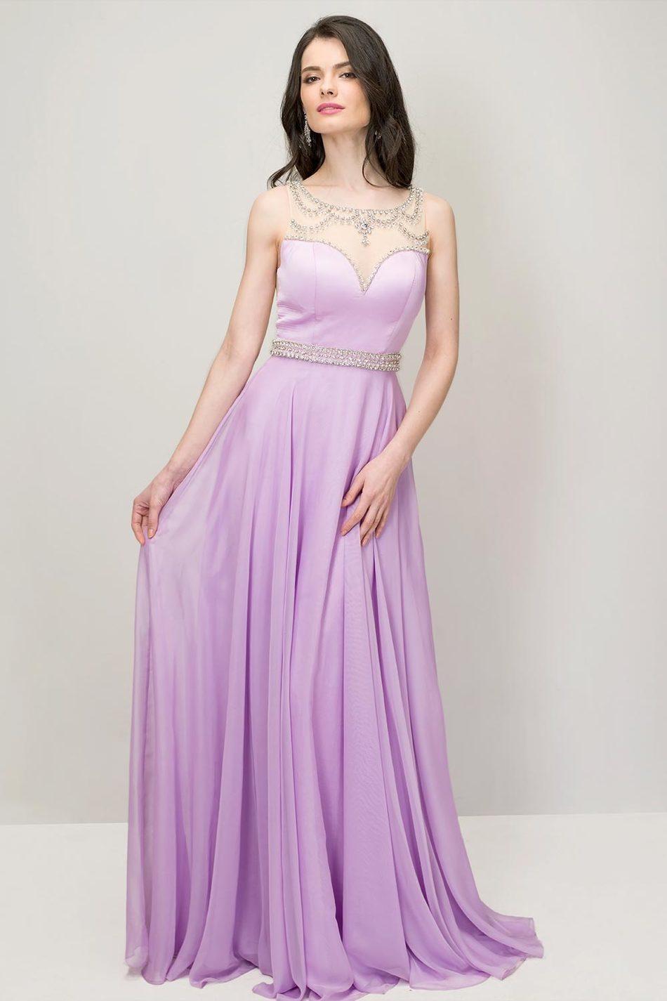 Popular Lilac Chiffon Prom Dress-Buy Cheap Lilac Chiffon Prom ...