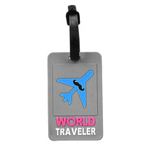 Cute 3D Cartoon Novelty Rubber Funky Travel Luggage Label Straps Suitcase Luggage Tags Free Shipping