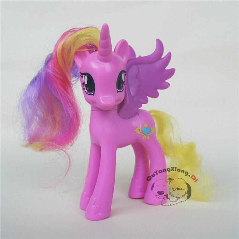 P11 012 Action Figures 10-13cm Little Cute Horse Model Doll Basic Princess Cadance Toys For Children