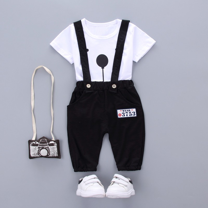 2pcs/set Toddler Infant Summer Baby Girls Boy Clothes Short Sleeve Bear Overalls Suit Outfits 3pcs set newborn infant baby boy girl clothes 2017 summer short sleeve leopard floral romper bodysuit headband shoes outfits