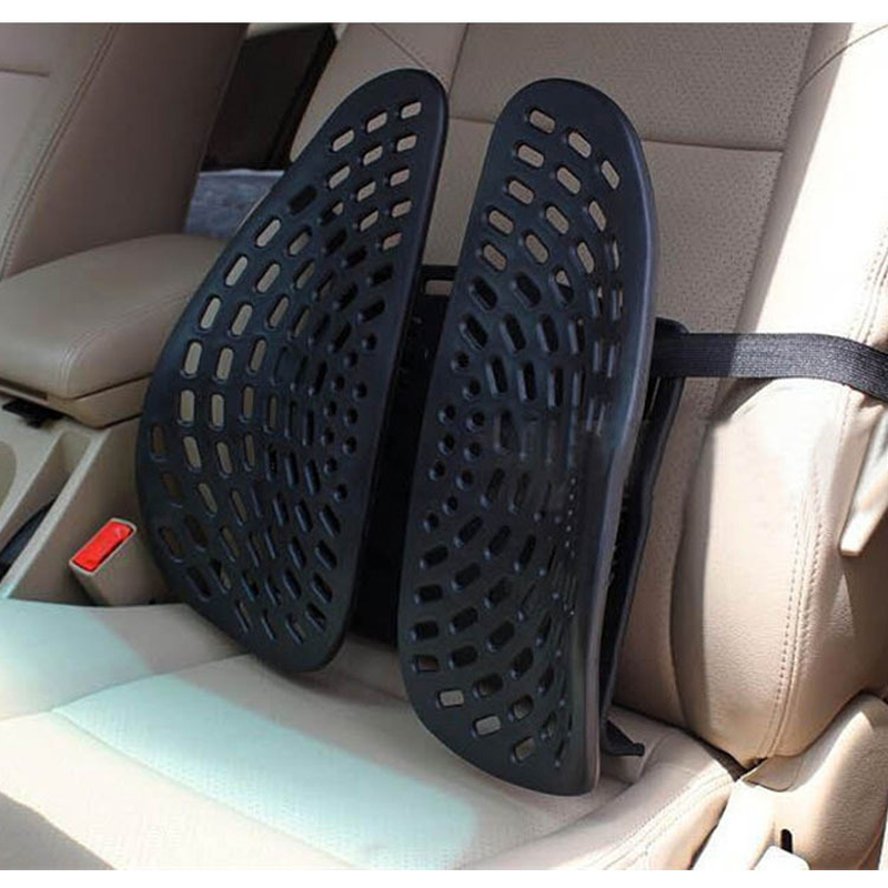 Plastic Car Seat Support Waist Lumber Backrest Double Wings Back Cushion Office Driver Seat Backrest Waist Support Backcare Pad