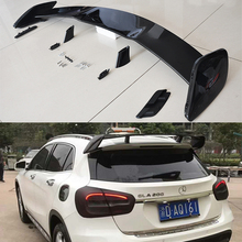 For Mercedes-Benz GLA Class X156 GLA45 AMG GLA200 GLA220 GLA250 GLA260 2014-2017 Car Wing Spoilers Auto Accessories патч корд 6 категории brand rex ac6pcg050 888hb lszh серый 5м