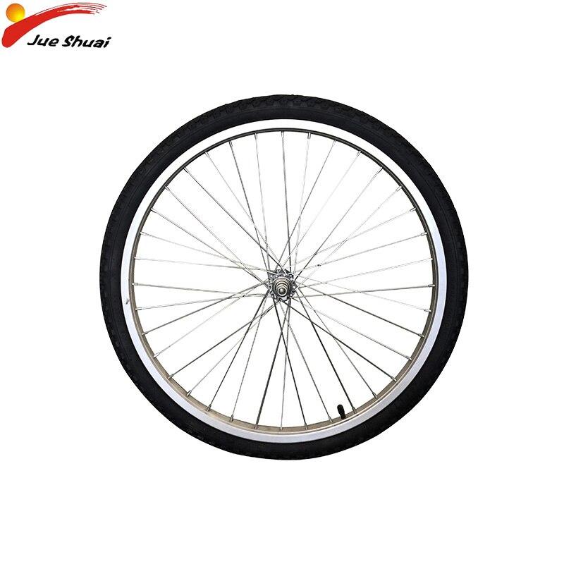 Offre spéciale 26''700C roues en alliage frein à disque roues vtt route vélo roues jantes en acier inoxydable rayon vélo pneu 36 trous
