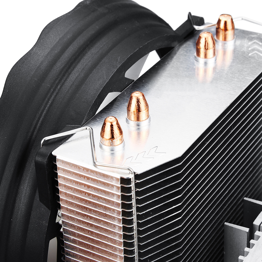 Image 5 - 4 Heatpipes 120mm CPU Cooler LED RGB Fan for Intel LGA 1155/1151/1150/1366 AMD 2019HOT Horizontal CPU Cooler-in Fans & Cooling from Computer & Office