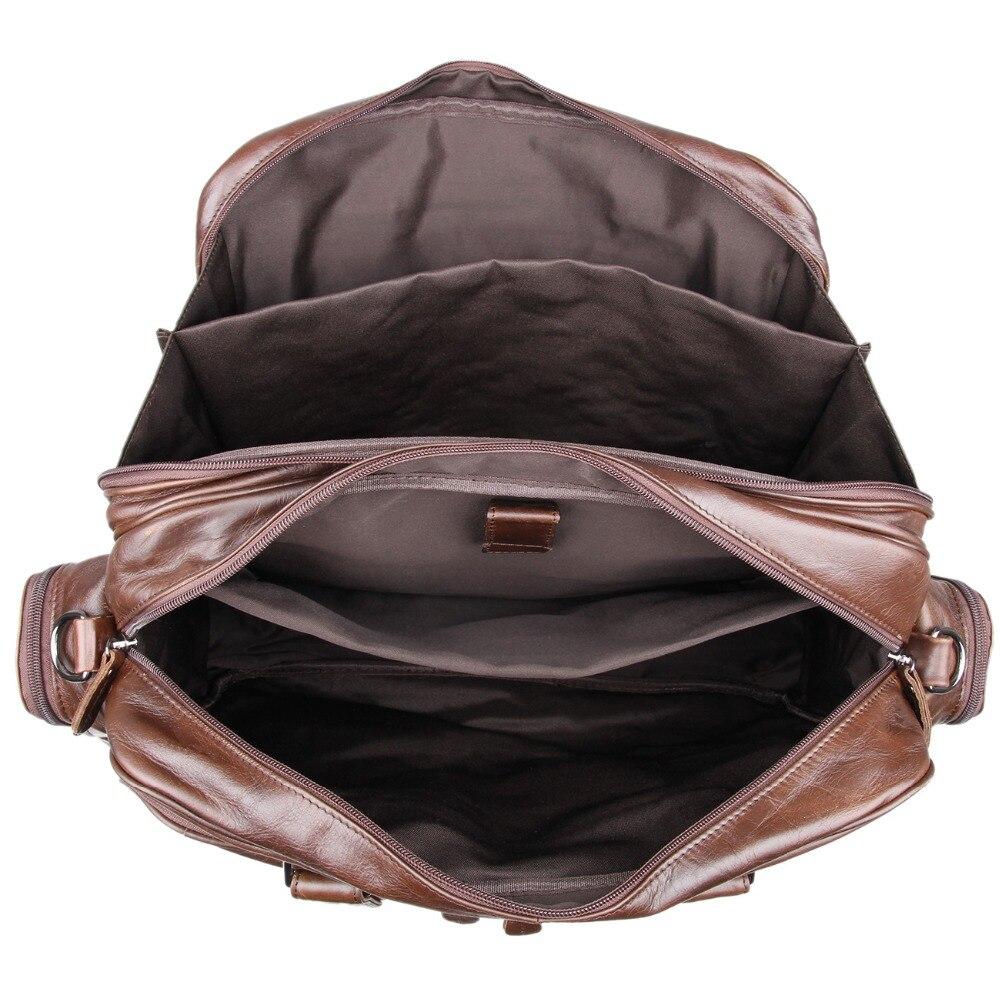 J.M.D Nieuwe collectie Manly Real Leather Trendy Reistassen Handtas - Trolley en reistassen - Foto 6