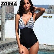 ZOGAA ZOGGA Summer 2019 Black Streak Stitching Women Bikini Spandex/Polyester Skinny
