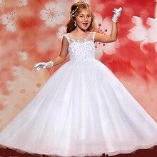купить Baby Pageant Dress 2015 Free Shipping First Communion Dresses White Ball Gown Flower Girls Dresses for Weddings по цене 7424.96 рублей