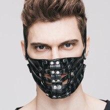 new punk Hot Explosion Steam Punk Cosplay Skin font b Mask b font Rivet Realistic font