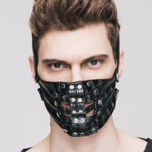 new punk Hot Explosion Steam Punk Cosplay Skin Mask Rivet Realistic-masks Motorcycle Face Anti Dust Mask Black Mask Face