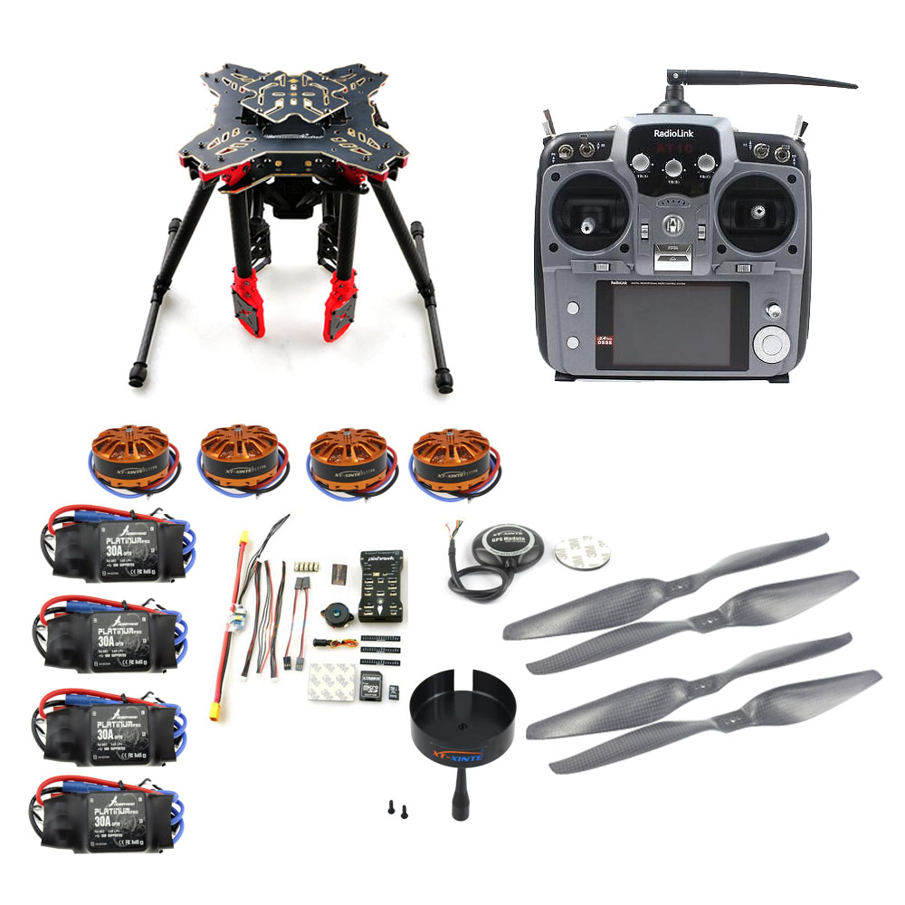 JMT DIY GPS Drone RC Quadcopter HMF U580 Totem Series PIX Flight Control 700KV Motor 30A ESC Radiolink AT10 TX&RX No Battery