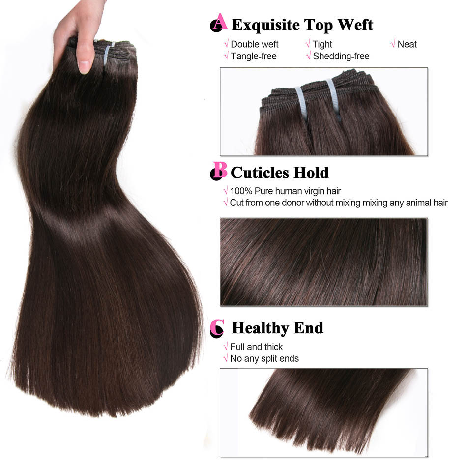 Ali Beauty Straight Human Hair Weft 100 Remy Hair Extensions Weft