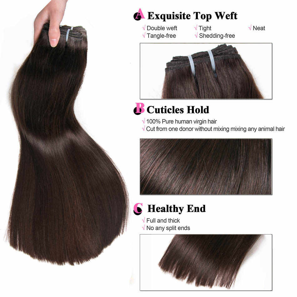 ALI-BEAUTY trama de cabello humano 100% extensiones de cabello Remy ancho de trama 120-130 cm soporte personalizado