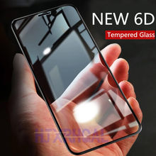 6D Curved Edge Tempered Glass For iPhone 8 7 6 6S Screen Protector Full Cover For iPhone 8 7 6S 6 Plus Film Protection Glass(China)