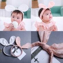 Cute Baby dětské vlasové doplňky Bavlna Velké králičí uši Hair Band