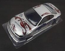 S009 S15 1/10 1:10 PVC carrocería pintada para 1/10 manía DEL RC racing car 2 unids/lote envío gratis