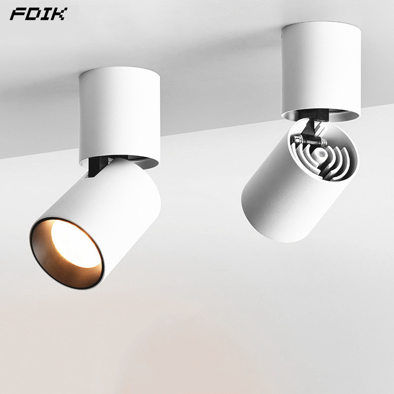 Dimmable 360° Rotation LED Downlights 9W12W15W COB LED Ceiling SpotLights 110~220V LED Wall Lamp Warm Cold White Indoor Lighting|Ceiling Lights| |  - title=