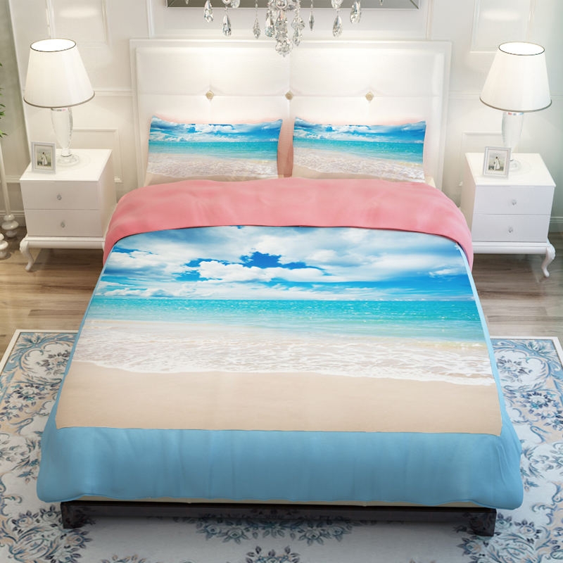 Sunset Ocean/Blue Sea/Sandy beach/Lake Scenic Bedding Sets ...