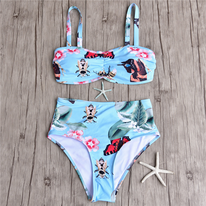 38462a482ab Dropwow High Waist Bikini Swimwear Women Swimsuit Female Plus Size ...