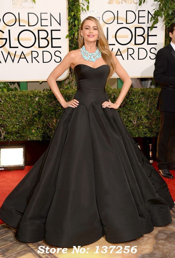 Awesome Black Satin Evening Gown Pictures - Wedding Dress Ideas ...
