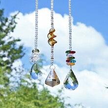 H&D Glass Crystal Ball Rainbow Maker Hanging Suncatcher Window Sun Catcher Gift,Pack of 3
