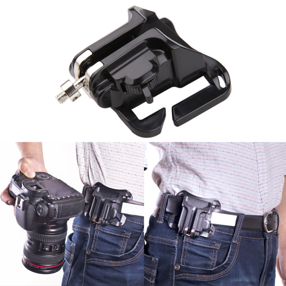 Fast Loading Camera Hard Plastic Holster Waist Belt Quick Strap Buckle Button Mount Clip For Sony Canon DSLR Cameras Promotion цена