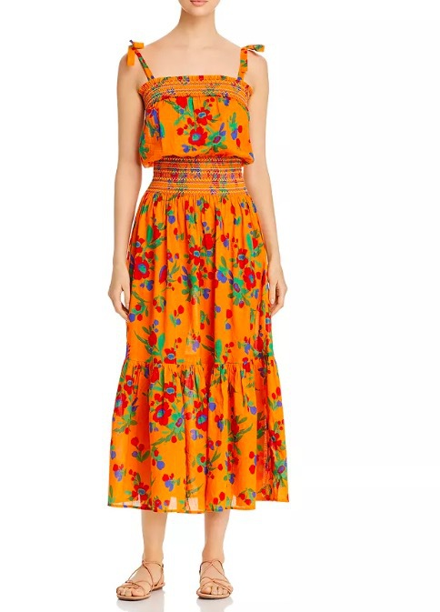 Women Dress Spring and Summer New Style Style Sling Cotton Print Dress
