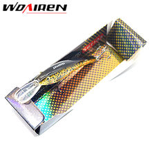 1Pcs 9.5cm 5.6g Fishing Bait Exported to USA Market 3D Fishing Tackle 6 colors High Quality Fishing lure With 6# Hook YR-185
