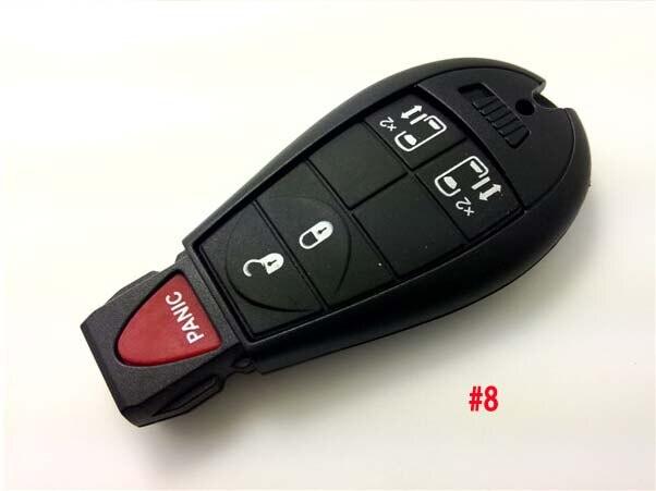Пустой 433 МГц с чипом ID46 для Chrysler Smart Remote Key 4 + 1 кнопка автосигнализации без ключа Fob 5 шт./лот