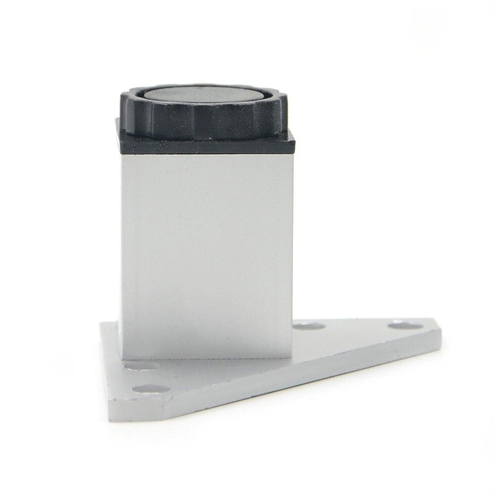 4pcs 6cm Furniture Legs Cabinet Feet Aluminum Metal Table Adjustable Triangle Base with Screws