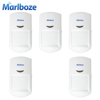 Marlboze 5pcs Wireless Passive PIR Motion Sensor Infrared Detector For G11 PG500 Home Security GSM Alarm