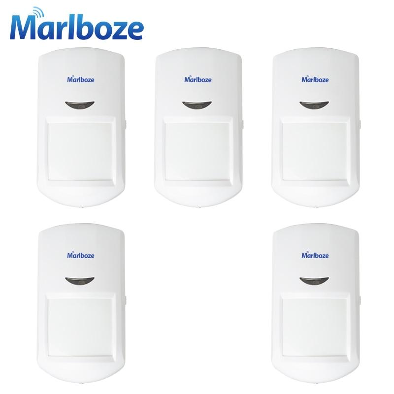 bilder für Marlboze 5 stücke Drahtlose Passive PIR Bewegungssensor infrarot-detektor für G11 PG500 Home Security GSM Alarm Host System 433 MHz