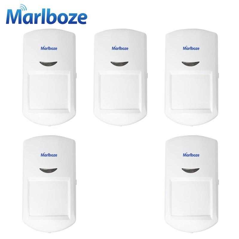 imágenes para Marlboze 5 unids PG500 Inalámbrica detector Infrarrojo Pasivo PIR Sensor de Movimiento para G11 GSM Seguridad En el Hogar Sistema de Alarma de Acogida 433 MHz