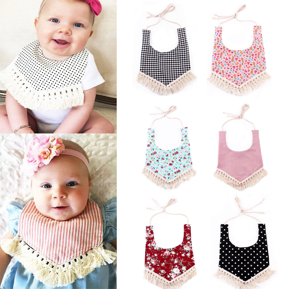 CHAMSGEND Drop Ship Baby Kids Cotton Bandana Bibs Feeding Saliva Towel Waterproof Sep25