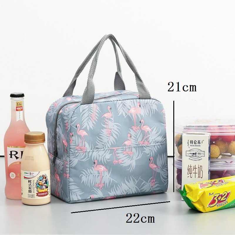Cactus portátil aislado Oxford bolsas de almuerzo térmico alimentos Picnic bolsos para la comida para mujer niños funcional enfriador de patrón lonchera