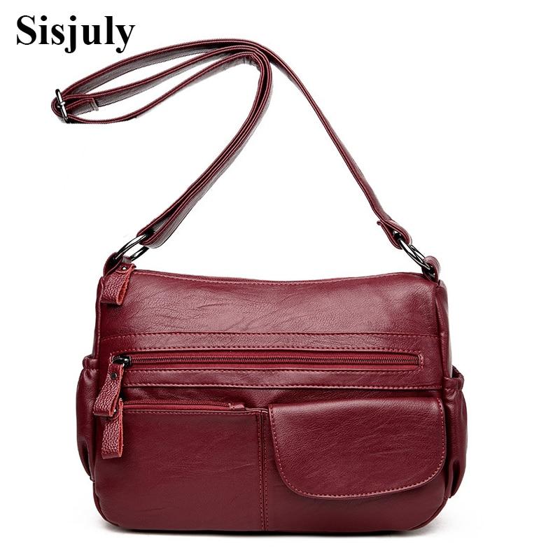 Sisjuly Women's Bags Female Genuine Leather Handbags Women Shoulder Bag Sheepskin Ladies Crossbody For Women Messenger Bag Sac