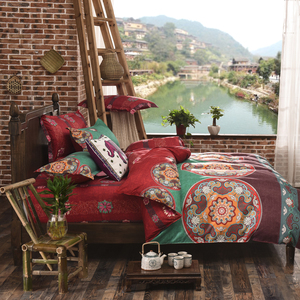 Image 5 - 4 pçs/set Bohemian Oriental Mandala conjunto beding eid lençóis fronha folha de cama Colcha Conjunto Capa de Edredon Folha Plana jogo de cama