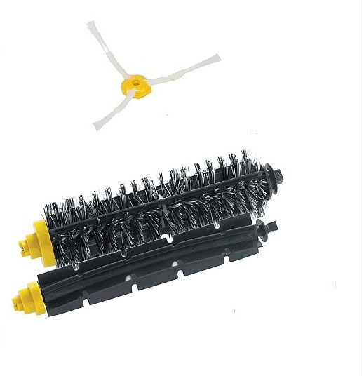 3 arm side brush+Bristle and Flexible Beater brush for irobot roomba 760 770 780 790 Vacuum Cleaner Parts flexible beater brush bristle brush for irobot roomba 500 600 700 series 550 630 650 660 760 770 780 790 vacuum cleaner parts