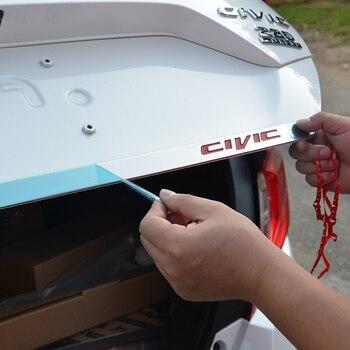 Logo màu đỏ Bằng Thép Không Gỉ Rear Cổng Sau Trunk Nắp Che Trim Cho Honda Civic 2016 2017 2018 Phụ Kiện Xe Hơi Kiểu Dáng