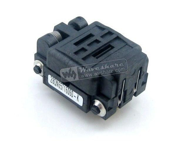 QFN28 MLP28 MLF28 28QN65T16060 Plastronics IC Test Burn-in Socket QFN Programming Adapter 0.65mm Pitch