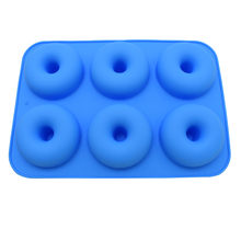 Cake Tools 6-Cavity Silicone Donut Baking Pan Non-Stick Mold Dishwasher Decoration Tools Feb26 Modell Plaything(China)