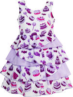 Girls Dress Cake Candy Birthday Gift Layered Tulle Purple 4 10