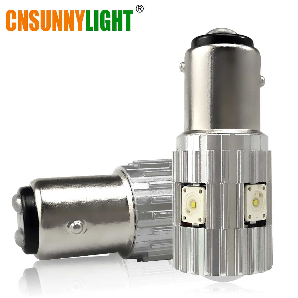 CNSUNNYLIGHT 1157 LED Car Brake Bulb SMD BAY15D P21/5W 1200Lm High Power Stop Lamp Lighting Source Back-up Parking Light 12V 24V