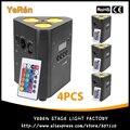 (4 шт.) Светодиодный прожектор с питанием от батареи  четырехцветный светильник RGBW 4 в 1 для мытья диджеев